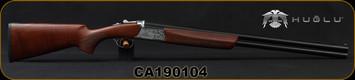 "Huglu - 12Ga/3""/28"" - Ventus GR2 - O/U - Turkish Walnut/Silver Engraved Low Profile Receiver/Blued Barrels, Ejectors, 5pc Ventus choke, SKU# 8681715397498, S/N CA190104"