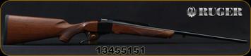 """Ruger - 25-06Rem - No.1 AH Light Sporter - Single Shot Rifle - Walnut Stock/Alexander Henry Forend/Blued, 24""""Barrel, No sights, Mfg# 11325, S/N 13455151"""