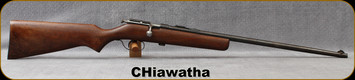 "Consign - Hiawatha - 22S/L/LR - Single shot - Bolt action Rimfire Rifle - Wood Stock/Blued, 22""Barrel"