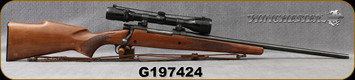 "Consign - Winchester - 243Win - Model 670A - Bolt action Rifle - Walnut Stock/Blued, 22""Barrel, c/w Bushnell Scopechief VI, 3-9x40mm, plex reticle, leather sling"