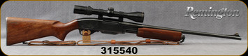 "Consign - Remington - 30-06Sprg - Model 760 Gamemaster - Pump action Rifle - Walnut Stock/Blued, 22""Barrel, c/w Bausch & Lomb Elite 3000, 3-9x40mm, Plex reticle, leather sling"