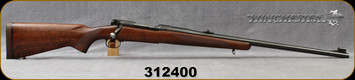 """Consign - Winchester - 375H&Hmag - Model 70 - Pre-64 - Bolt action Rifle - Walnut Stock/Blued, 25""""Barrel, Manufactured in 1954 - Low rounds fired"""