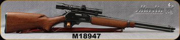"Consign - Marlin - 35Rem - Model 336 RC - Lever Action Rifle - Walnut Stock/Blued, 20""Barrel, Manufactured in 1955 - c/w Weaver V4.5 IIW, Dangerous Game Scope, 1.5x4.5 Wide Angle Post"