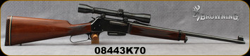 "Consign - Browning - 308Win - BLR - Lever Action Rifle - Walnut Stock/Blued, 20""Barrel, Weaver Marksman 4x Scope, Plex Reticle , (2)magazines"