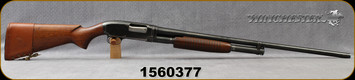 "Consign - Winchester - 12Ga/2.75""/30"" - Model 12 - Pump action - Walnut Stock/Blued Barrel, Fixed Full, Brass Bead Front Sight, leather stock sleeve"