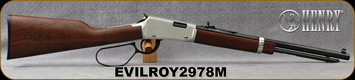 "Used - Henry - 22Mag - Frontier Carbine ""Evil Roy"" Edition - Lever Action Rifle - Walnut Stock/Silver Receiver/Blued, 16.5""Octagonal Barrel, 12 Round Capacity, Mfg# H001TMER, S/N EVILROY2978M - New, no box"