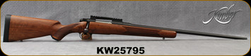 "Used - Kimber - 270WSM - Classic Select - Bolt Action Rifle - Grade AA Walnut Stock/Blued, 24""Barrel, Ken Farrell rail - In camo soft case"