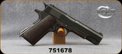 "Consign - Colt - 45ACP - Model 1911A1 US Army - Semi-Auto - Checkered Grips/Blued, 5""Barrel, Manufactured 1941, Item King Sight Upgrade, Original Boyt 1942 dated holster"