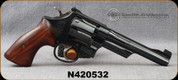 "Consign - Smith & Wesson - 357Mag - Model 27-2 - Revolver - Rosewood grips/Blued, 5.8"" Gloss Finish Barrel, Checkered Barrel Rib & Top Strap, c/w Hogue MonoGrip"