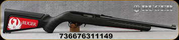"Ruger - 22LR - 10/22 Compact - Semi-Auto - Black Ruger Modular Stock System/Blued, 16.12""Barrel, Fiber Optic frint & rear sights, Mfg# 31114"