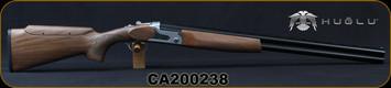 "Huglu - 12Ga/3""/28"" - S12E - Full Size Over/Under - Turkish Walnut Monte Carlo Stock w/Adjustable Comb/Silver Receiver/Chrome-Lined Barrels, Ejectors, SKU# 8681715390840, S/N CA200238"