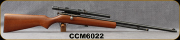 "Consign - Cooey - 22LR - Model 60 - Wood Stock/Blued, 23.75""Barrel, c/w Weaver Model 66 scope, crosshairs reticle, on a N2 Side Mount"
