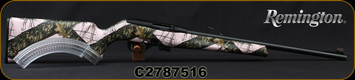 """Consign - Remington - 22LR - Model 597 - Pink Camo Synthetic/Blued, 20""""Barrel, Fiber Optic Sights, c/w 10 & 25rd magazines - only 150 rounds fired"""