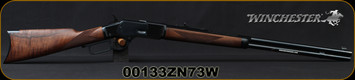 """Winchester - 44-40Win - Model 1873 Deluxe Sporter - Lever Action Rifle - Grade III Walnut/Polished Blued, 24 1/4""""Half Octagon/Half Round Barrel, Button Rifled, Crescent Butt Plate, Mfg# 534274140, S/N 00133ZN73W"""