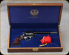 "Consign - Ruger - 22/22Mag - Colorado Centennial 1876-1976 Limited Edition - Revolver - Rosewood Grips/Stainless T/G & B/S/Engraved Cylinders/Blued, 6.5""Barrel - Also marked for 1776-1976 Bi-Centennial - Unfired - In wooden case"