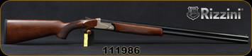 "Rizzini - 20Ga/3""/29"" - BR110 Light - Boxlock O/U Break Action Shotgun - Turkish Walnut/Matte Silver Receiver/Blued Barrels, automatic ejectors, single-selective trigger, S/N 111986"