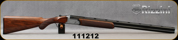 """Consign - Rizzini - 16Ga/2.75""""/29"""" - Aurum - Low-pro Boxlock O/U Shotgun - Turkish Walnut w/Round-knob Prince of Whales grip/Coin-Finish Engraved Receiver/Blued, Single Select Trigger, Auto Ejectors, 5pcs choke, 500rds fired - in original case"""