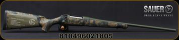 "Sauer - 6.5PRC - S100 Cherokee - Bolt Action Rifle - Woodland Digi Cam Synthetic Stock/Green Cerakote Finish, 24"" Barrel, 5 Round Detachable Magazine, Mfg# S1CH65P"