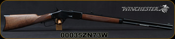 """Winchester - 44-40Win - Model 1873 Deluxe Sporter - Lever Action Rifle - Grade III Walnut/Polished Blued, 24 1/4""""Half Octagon/Half Round Barrel, Button Rifled, Crescent Butt Plate, Mfg# 534274140, S/N 00035ZN73W"""