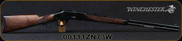 """Winchester - 44-40Win - Model 1873 Deluxe Sporter - Lever Action Rifle - Grade III Walnut/Polished Blued, 24 1/4""""Half Octagon/Half Round Barrel, Button Rifled, Crescent Butt Plate, Mfg# 534274140, S/N 00111ZN73W"""