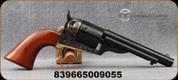 "Taylor's & Co - Uberti - 38Spl - Model 1851 Open Top Early Model Navy - Revolver - Walnut Navy Grips/Brass Back Strap & Trigger Guard/Case Hardened Frame/Blued, 5.5""Round Barrel, Mfg# 0908"