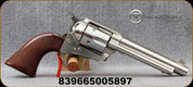 """Taylor's & Co - Uberti - 45LC - Runnin' Iron Stainless - Single Action Revolver - Checkered Navy size grips/Stainless, 5.5""""Barrel, Mfg# 4204"""