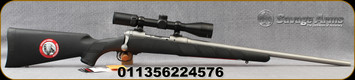 "Savage - 338Fed - Model 16 Trophy Hunter - Bolt action Rifle - Black Synthetic/Stainless, 22""Barrel, AccuTrigger, c/w Weaver, 3-9x40mm, BDC Reticle, Mfg#"