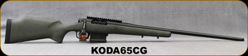 "Kelbly's Inc - 6.5Creedmoor - Koda - Green w/Blk Web Grayboe stock/Atlas Tactical action/Black Nitride Finish, Krieger match grade stainless steel, 26""Threaded(1/2-28) #4 Heavy Sporter Barrel, Magpul 5rd magazine, Mfg# KODA-65C-G"