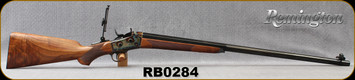 "Consign - Remington - 45-70Govt - RB1 Sporter - Rolling Block - Grade AAA Walnut/Case Hardened Frame & Trigger Guard/Blued Barrel/Forend & Butt Plate, 30""Barrel 1/2Oct 1/2Round - Vernier Rear Sight - New, Unfired in fitted hard case"