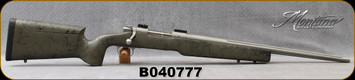 "Consign - Montana Rifle Company - 308Win - Model 1999 - Green w/Black Web Synthetic Stock w/Adjustable Cheekpiece/Stainless, 22""Fluted Barrel"