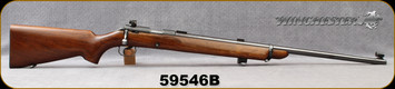 "Consign - Winchester - 22LR - Model 52B Target Rifle - Bolt Action Rimfire Rifle - Walnut Stock/Blued, 28""Barrel, c/w 5&10rd magazines, inserts for Lyman 17A Front Sight - Manufactured in 1947"