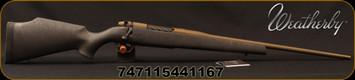 "Weatherby - 240WbyMag - Mark V Weathermark Bronze - Black w/Burnt Bronze web Synthetic Stock/Burnt Bronze Cerakote, 24""#1 Contour, Threaded Barrel, Mfg# MWB01N240WR4T"