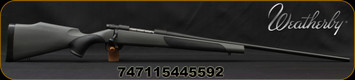 "Weatherby - 6.5PRC - Vanguard Synthetic - Bolt Action Rifle - Grey Monte Carlo Griptonite Synthetic Stock w/Black Touch Panels/Matte Blued Finish, 24""Barrel #2 Contour, 4 Round Hinged Floorplate, Mfg# VGT65PPR4O"