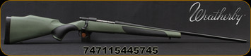 "Weatherby - 6.5PRC - Vanguard Synthetic Green - Bolt Action Rifle - Greeen Monte Carlo Griptonite Synthetic Stock w/Black Touch Panels/Matte Blued Finish, 24""Barrel #2 Contour, 4 Round Hinged Floorplate, Mfg# VGY65PPR4O"