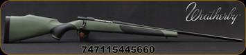 "Weatherby - 270Win - Vanguard Synthetic Green - Bolt Action Rifle - Greeen Monte Carlo Griptonite Synthetic Stock w/Black Touch Panels/Matte Blued Finish, 24""Barrel #2 Contour, 5 Round Hinged Floorplate, Mfg# VGY270NR4O"