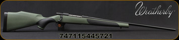 "Weatherby - 6.5-300WbyMag - Vanguard Synthetic Green - Bolt Action Rifle - Greeen Monte Carlo Griptonite Synthetic Stock w/Black Touch Panels/Matte Blued Finish, 26""Barrel #2 Contour, 3 Round Hinged Floorplate, Mfg# VGY653WR6O"