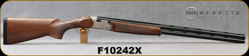 "Beretta - 12Ga/3""/30"" - Model 686 Silver Pigeon I - LH - O/U - Oil-Finished Walnut Stock/scroll-engraved Nickel receiver/Cold Hammer Forged Barrels, 5pc. Mobilchoke, Mfg# 3V5622LAAA331, S/N F10242X"