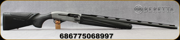 "Beretta - 12Ga/3.5""/28"" - A400 Xtreme Plus - Black Synthetic Stock w/KickOff/Gunmetal Grey Receiver/Optima Bore HP Steelium Plus with Step Rib Barrel, 5 Black Edition 20mm extended chokes, Mfg# 7WA1111115080"