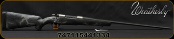 "Weatherby - 6.5WbyRPM - Mark V Backcountry Ti - Carbon Fiber Stock Black/Grey Sponge Accent/Titanium Receiver/Graphite Black Cerakote, 24""Fluted Barrel(26""w/Accubrake Intalled) 4 Round Capacity, Accubrake ST, Mfg# MBT01N65RWR6B"