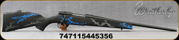 "Weatherby - 243Win - Vanguard Synthetic Compact Blue - Black Base Composite Stock w/Blue & Grey Accents/Blued, 20""#1 contour barrel, 5+1 Hinged Floorplate, Mfg# VYB243NR0O"