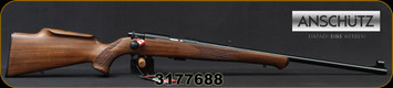 "Anschutz - 22LR - Model 1710 D KL - Bolt Action Rimfire Rifle - Walnut Monte Carlo Stock/Blued, 23""Barrel, Mfg# 000439, S/N 3177688"