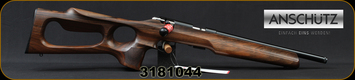 "Anschutz - 22LR - 1416 HB G-20 - Oiled Walnut Thumbhole Stock w/Roll-over cheek piece - Bolt Action Rifle - Walnut Thumbhole Stock/Blued, 13.9""Threaded Barrel, 5098 two-stage trigger, Mfg# 014708, S/N 3181044"