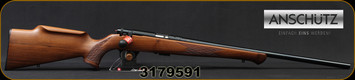 "Anschutz - 22LR - 1712 Silhouette Sporter - Walnut Monte Carlo Stock/Blued, 22""Barrel, two-stage trigger, Mfg# 007594, S/N 3179591"