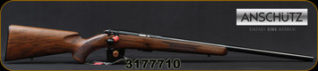 "Anschutz - 22LR - Model 1710 D HB Classic - Oiled Walnut Stock/Blued, 23""Heavy Barrel, Single Stage Trigger, Mfg# 000454, S/N 3177710"