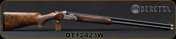 "Consign - Beretta - 12Ga/3""/30"" - DT11 Trident Sport - LH - O/U - High Grade Walnut Stock/Blued, Premium-grade Steelium-Pro barrels, 10x8 Rib, OCHP, Mfg# 5X16482600301, S/N DT12423W - New, Unfired - In original case & outer box"