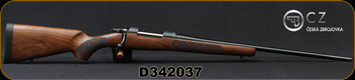 "CZ - 6.5x55Swedish - 557 American - Turkish Walnut, American Style Stock with Oil Finish/Blued Finish, 24"" Cold Hammer Forged Barrel, 5rd capacity, Adjustable trigger, Mfg# 5574-6701-ZD20001, S/N D342037"