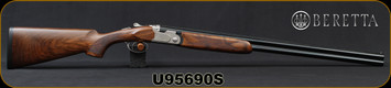 "Beretta - 20Ga/3""/28"" - Model 693 Field - LH - O/U - Oiled High-Grade Wood Stock/Engraved Receiver/Blued, Steelium Barrels, OCHP Chokes, Mfg# 4WC8P4L200661, S/N U95690S"