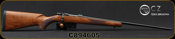 "CZ - 6.5Grendel - Model 527 American - Bolt Action Rifle - American Style Turkish Walnut Stock/Blued, 24"" Barrel, 5 Round Detachable Magazine, No Sights Integrated 16mm Scope Base, Mfg# 5274-0857-MFAKAB5, S/N C894605"