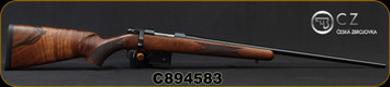 "CZ - 6.5Grendel - Model 527 American - Bolt Action Rifle - American Style Grade AAA Turkish Walnut Stock/Blued, 24"" Barrel, 5 Round Detachable Magazine, No Sights Integrated 16mm Scope Base, Mfg# 5274-0857-MFAKAB5, S/N C894583"