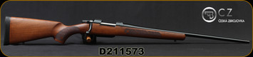 "CZ - 6.5Creedmoor - Model 557 American - Bolt Action Rifle - Walnut Stock/Blued Finish, 24""Barrel, 4 Round Detachable Magazine, Mfg# 5574-1112-MFABAA5, S/N D211573"